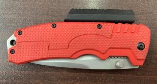 Складной надежный нож с красной рукоятью