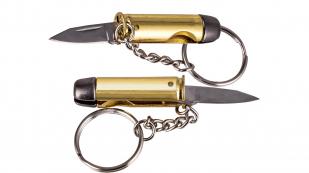 Складной нож-брелок в виде патрона