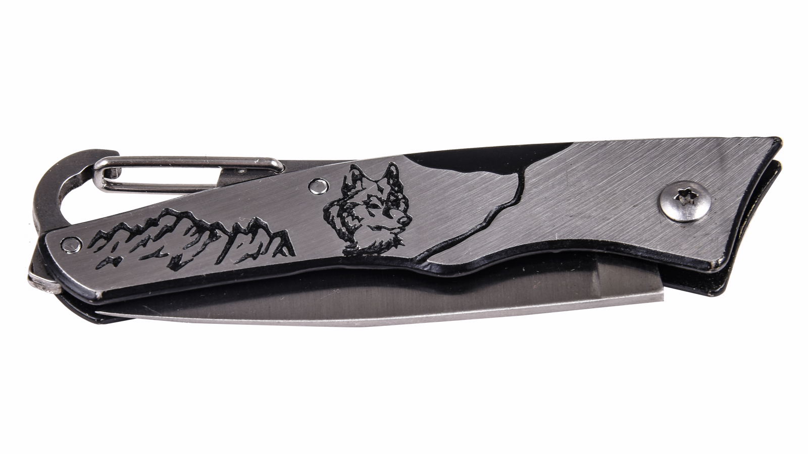 Заказать складной нож с гравировкой и карабином