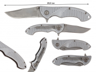Складной нож Drop Point Silver w/Clips Folder