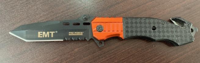 Складной нож EMT Tac-Force со стеклобоем и стропорезом