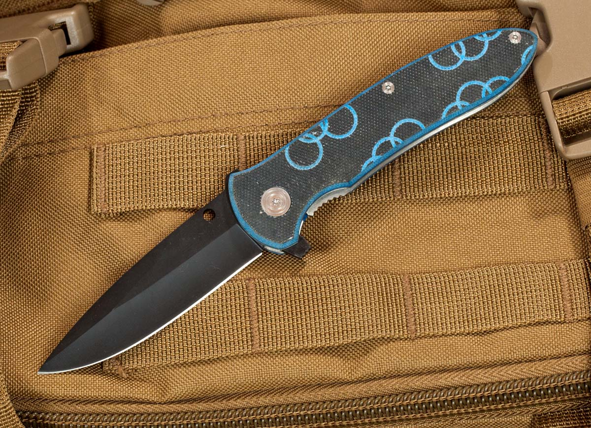 Складной нож Frost Cutlery Black Coated Blade Folder