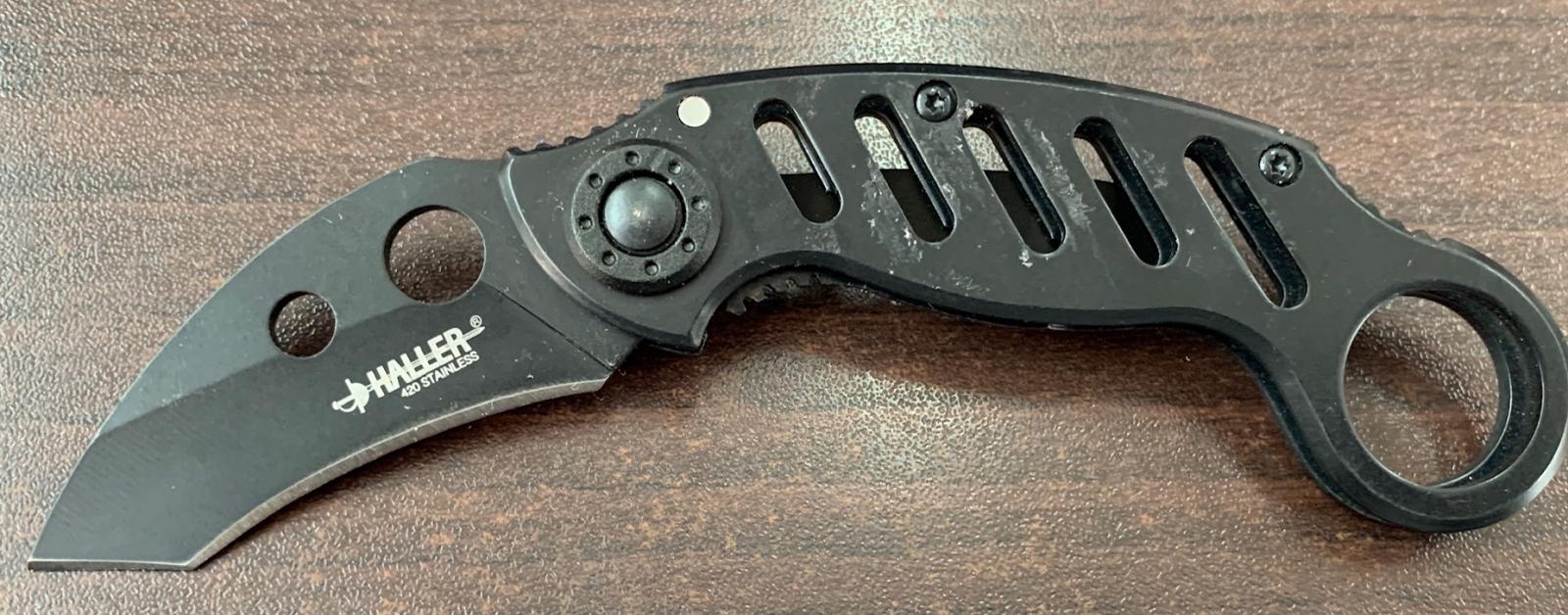 Складной нож-керамбит Haller с перфорированной рукоятью