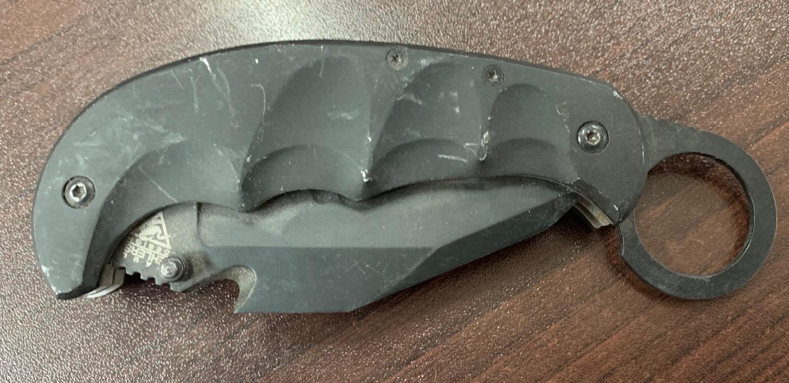 Складной нож-керамбит Paul Ehlers со стропорезом
