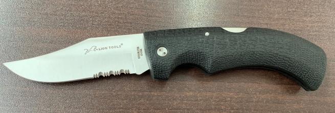 Складной нож Lion Tools с темной рукояткой