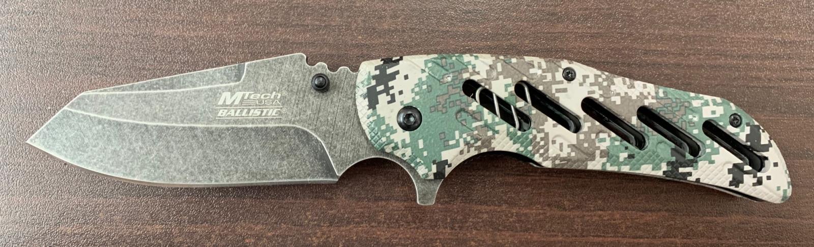 Складной нож M-Tech с камуфлированной рукоятью