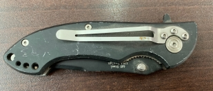 Складной нож M-tech с языками пламени на лезвии
