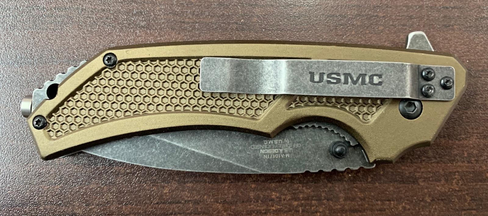 Складной нож Marine со стеклобоем