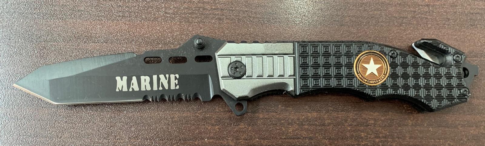 Складной нож Marine со стропорезом и стеклобоем