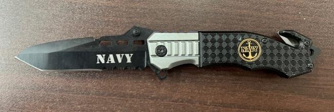 Складной нож Navy с рифленой рукояткой