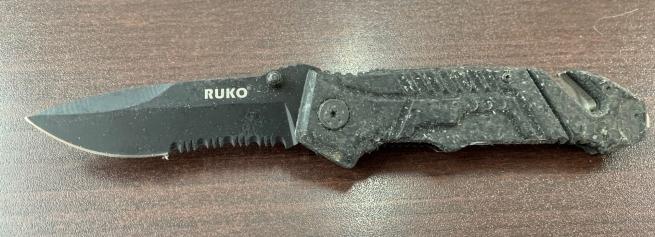 Складной нож Ruko со стеклобоем