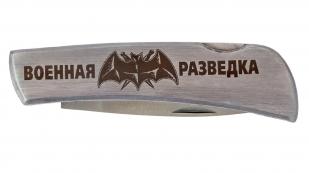 """Складной нож с эмблемой """"Военная разведка"""""""
