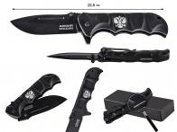 Складной нож с гербом России