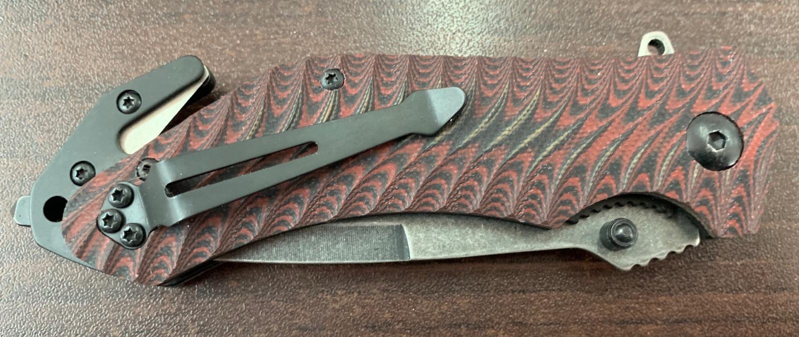 Складной нож с удобной рифленой рукоятью