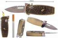 """Складной нож с зажигалкой """"Паутина"""""""