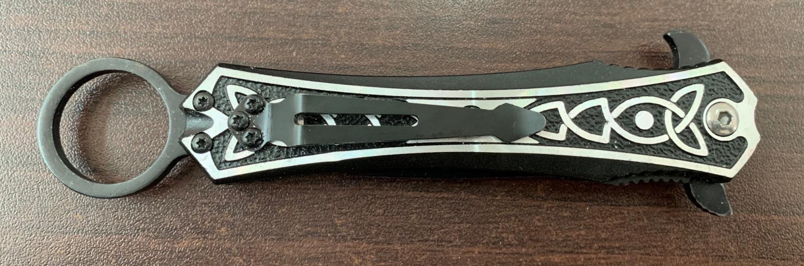 Складной нож-стилет Tac-Force с кольцом для темляка