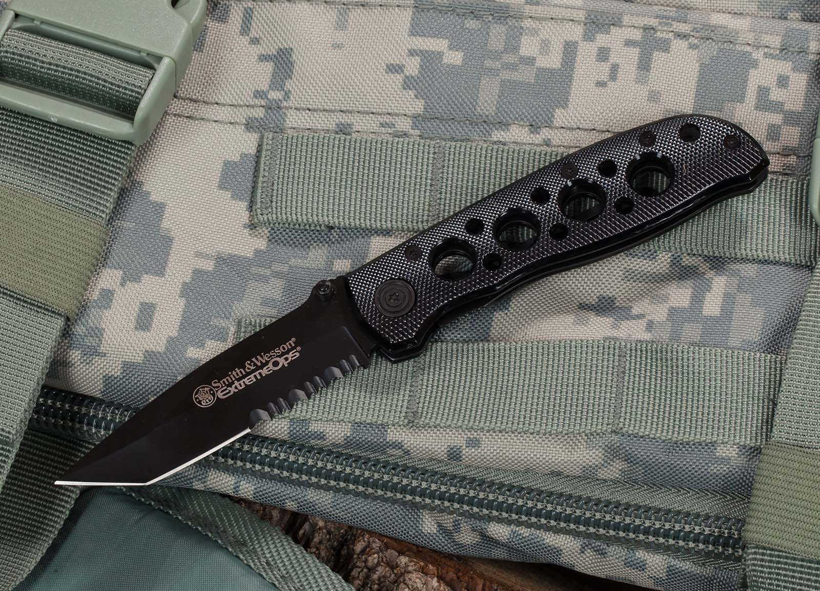 Складной нож танто Smith & Wesson Extreme Ops CK5TBS