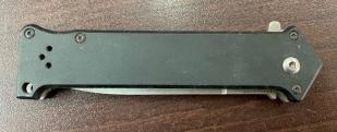 Складной нож Tomahawk с долом и темной рукоятью