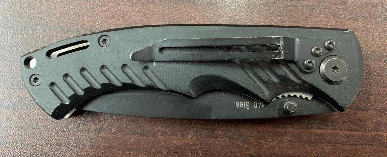 Складной нож Viking Nordway с темной рукоятью