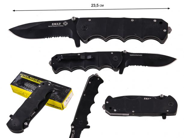 Складной спасательный нож со стеклобоем Tiger Knives SWAT By Retired US Colonel Peter Hoffman (США)