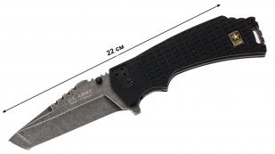 Складной тактический нож US Army A-A1021BP Liner Lock Black - купить с доставкой