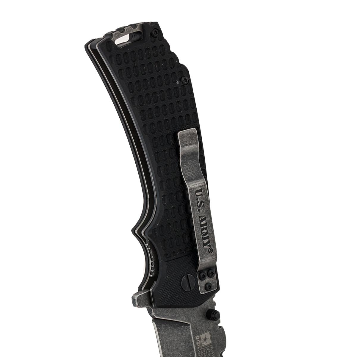 Складной тактический нож US Army A-A1021BP Liner Lock Black - заказать оптом