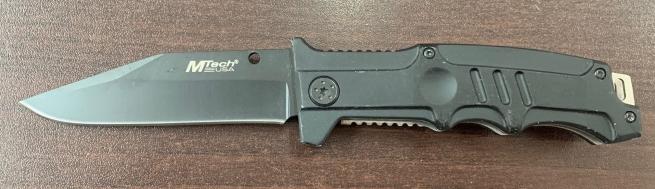 Складной темный нож M-tech с удобной рукоятью