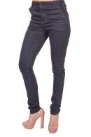 Женские слим джинсы в брючном дизайне.