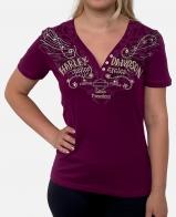 Сливовая женская футболка Harley-Davidson