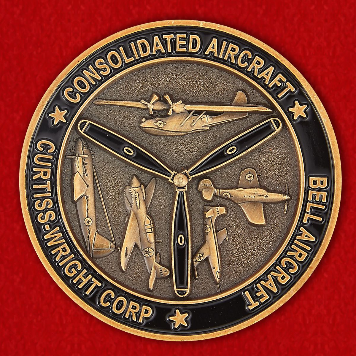 SNJ-4 on Historical Air Show in Buffalo Challenge Coin