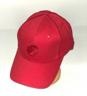 Сочная брендовая бейсболка красного цвета