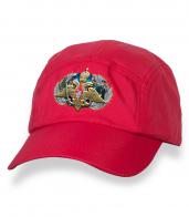 Сочная красная кепка-пятипанелька с термотрансфером Армия России