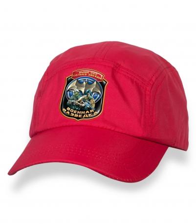 Сочная красная кепка-пятипанелька с термотрансфером Военная Разведка
