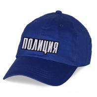 Сочно-синяя стильная бейсболка Полиция