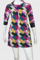 Сочное привлекательное платье-туника