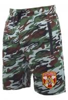 Сочные камуфляжные шорты с карманами и нашивкой Росгвардия