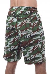 Сочные камуфляжные шорты с карманами и нашивкой Росгвардия - купить онлайн