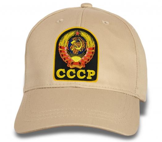 Солидная бейсболка с вышивкой СССР