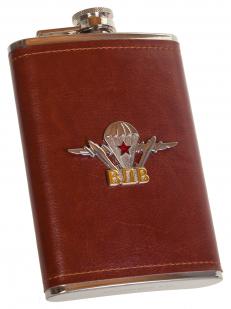Солидная подарочная фляжка с металлической накладкой ВДВ -купить по низкой цене