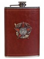Солидная подарочная фляжка с накладкой 100 лет Советской Армии и флота