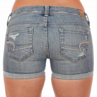 Сексуально состаренные и эффектно потрёпанные джинсовые шорты American Eagle. Детка, на женственность ЗАБИВАТЬ НЕЛЬЗЯ!