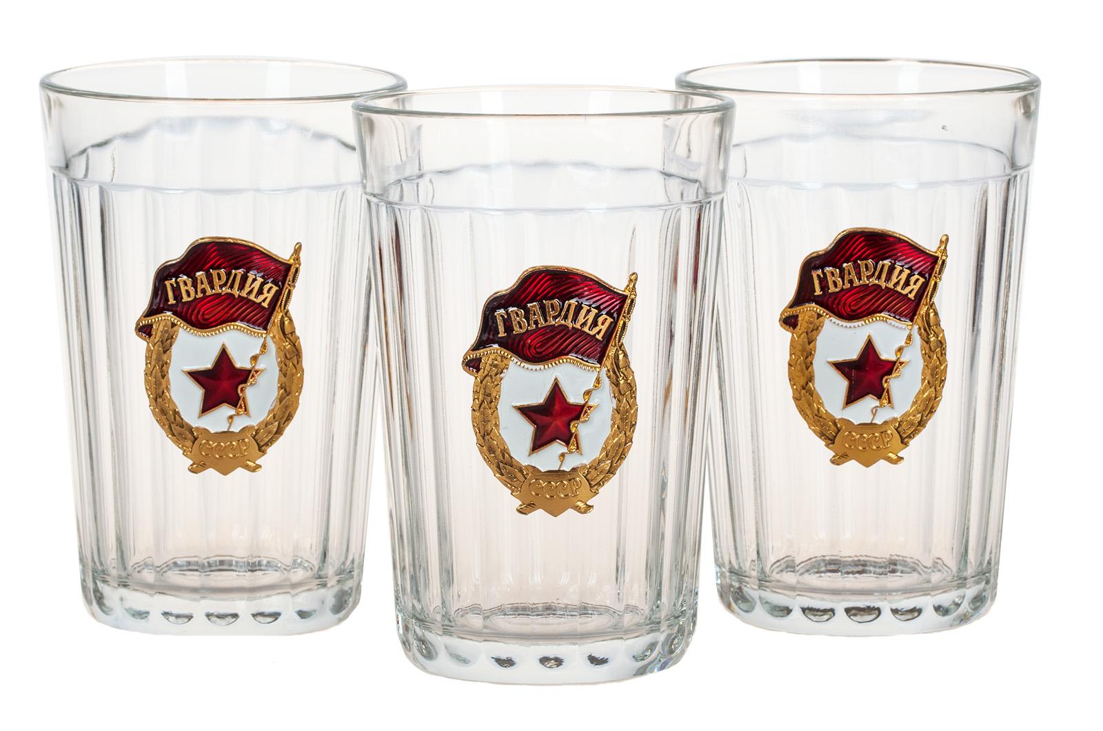 """Советские гранёные стаканы """"Гвардия"""" по выгодной цене"""