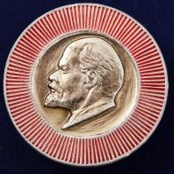 Советский значок с Лениным