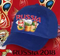 Современная хлопковая бейсболка Russia с колоритным принтом «Матрешечки в бане» от лучших дизайнеров нашего онлайн магазина по самой лучшей цене