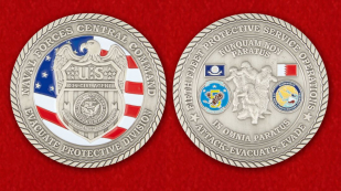 Special Agent of the US Navy Challenge Coin - obverse and reverse