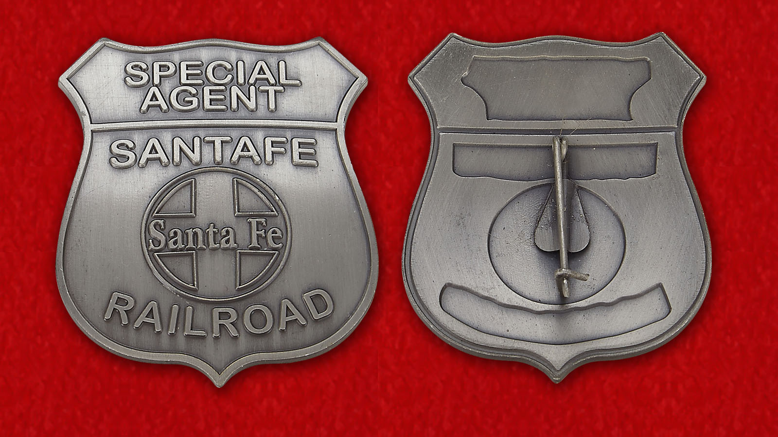 Special Agent Raulroad Sata Fe Token - obverse and reverse