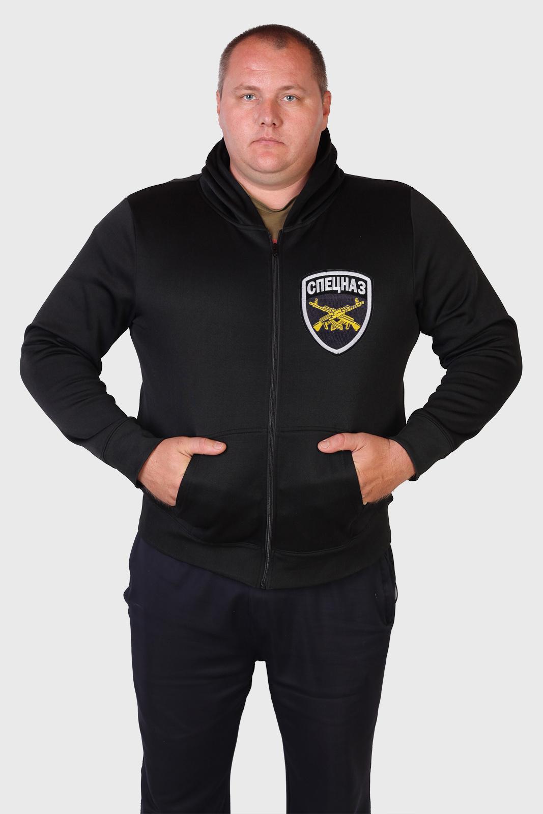 Мужская толстовка с шевроном Спецназ