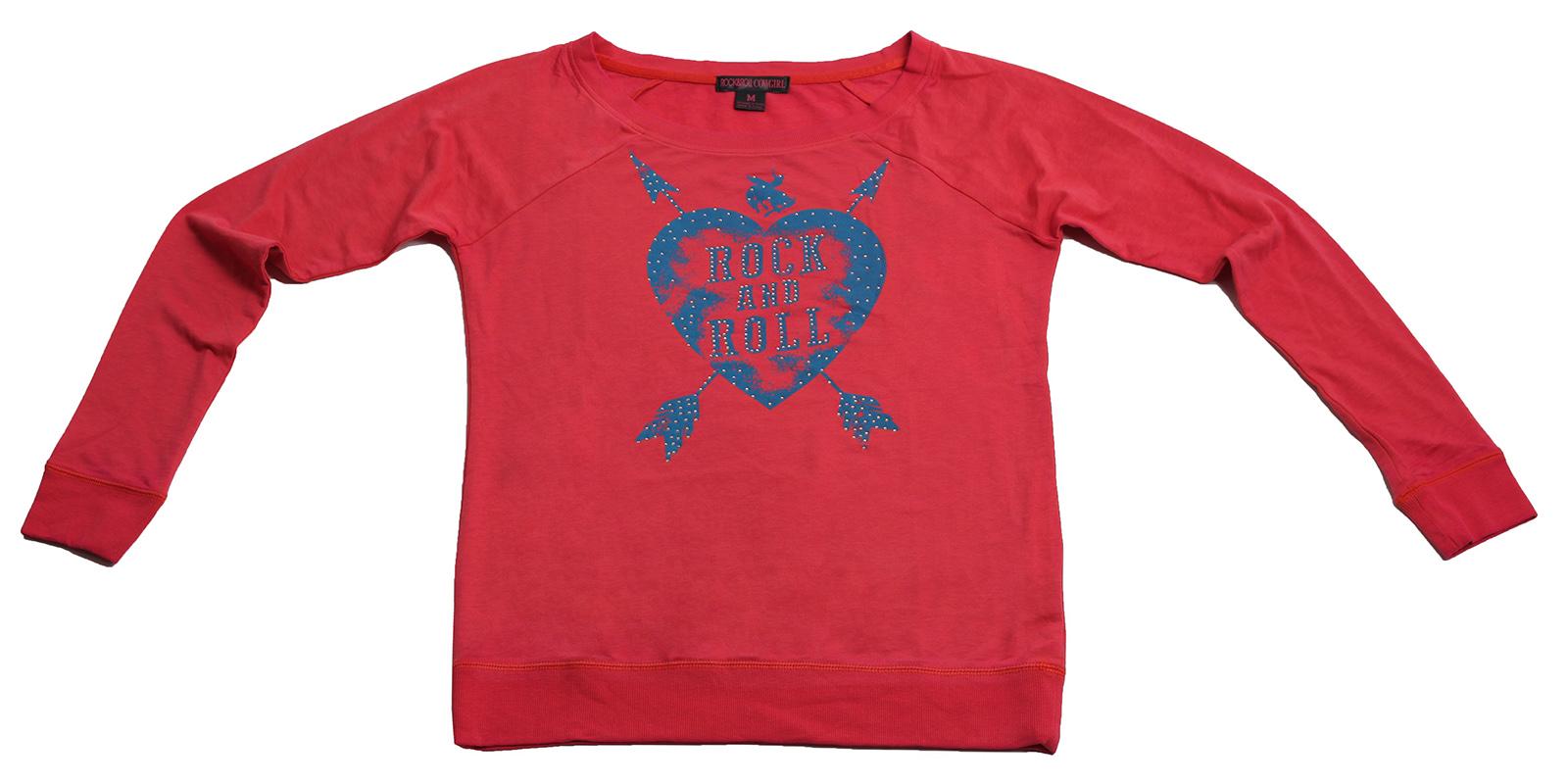 Спортивная брендовая кофточка с пробитым сердцем от Rock&Roll CowGirl