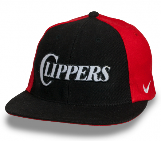Спортивная черно-красная кепка снепбек