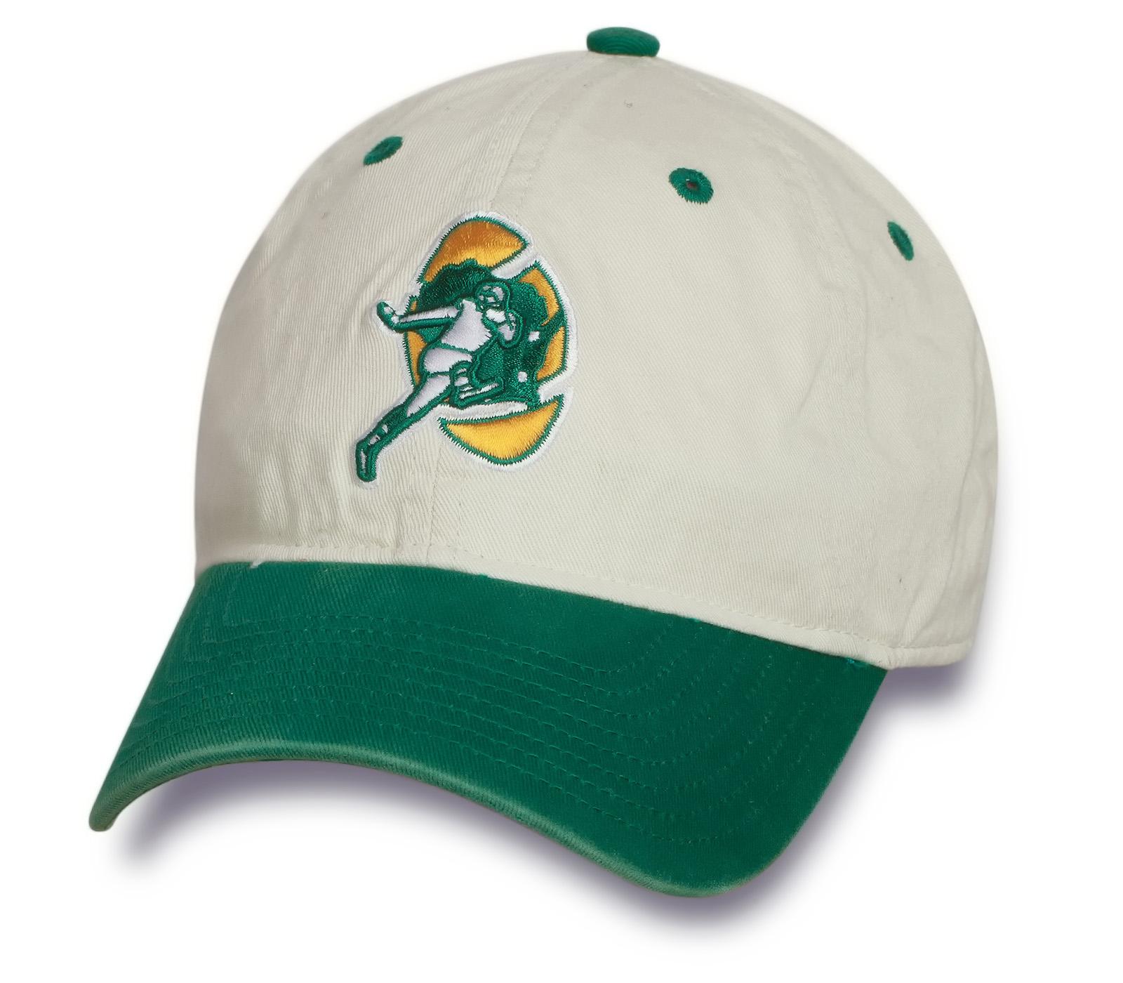 Спортивная двухцветная бейсболка с лого